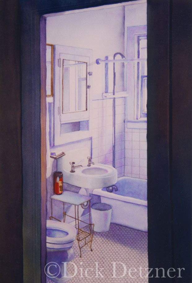 bathroom with white porcelain fixtures