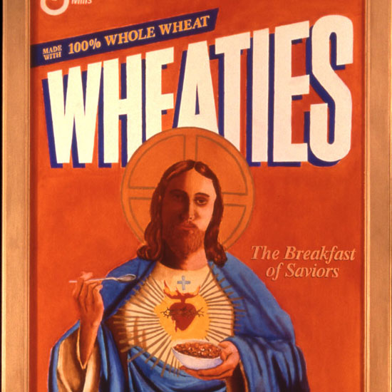 Jesus on a Wheatties box